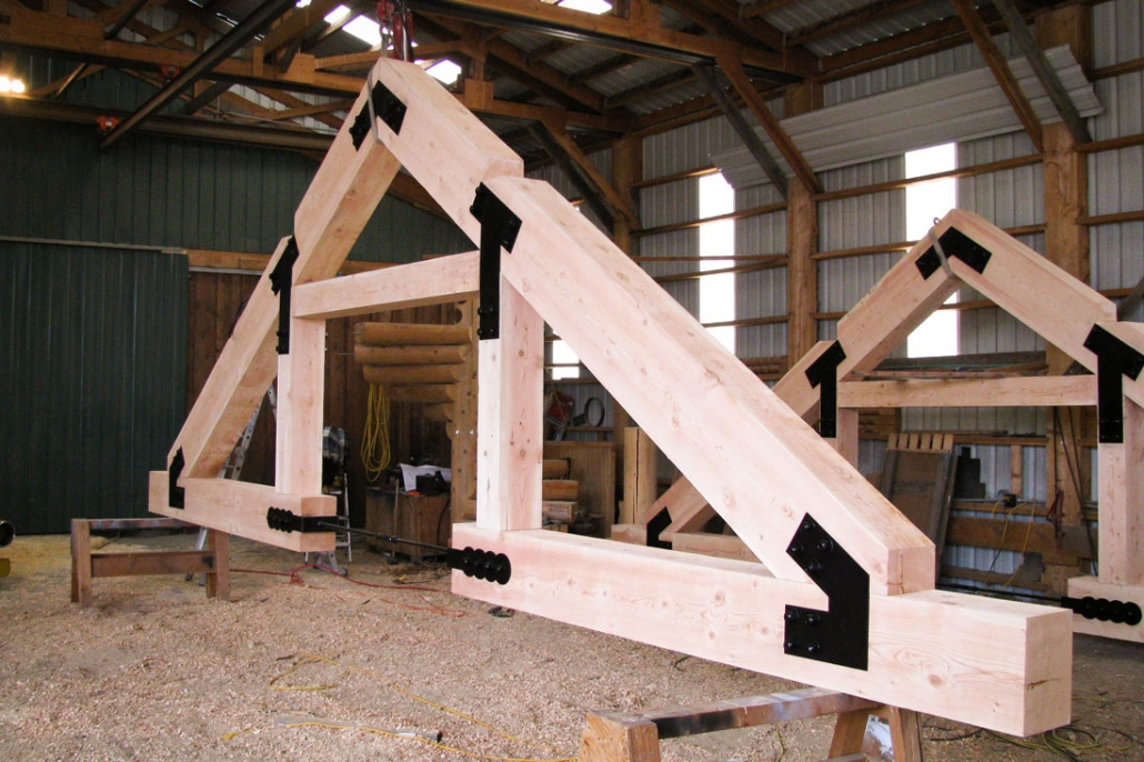 Precision Joinery Of Log And Timber Trusses And Heavy Post