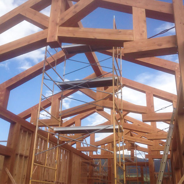 timber truss hammer beam roof system